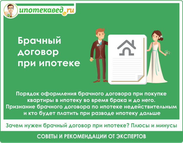 Брачный договор для ипотеки: образец, для чего он нужен, возможно ли это при покупке квартиры и для банка